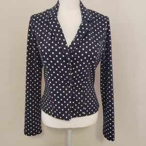 Rockabilly style top or light jacket Polka-dots